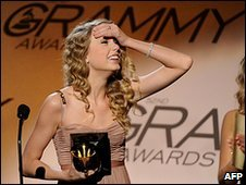Taylor Swift won best country album for her second LP Fearless